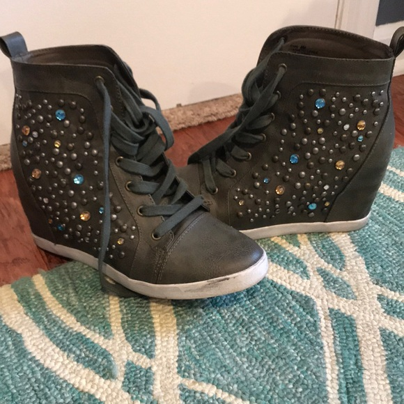 c21b6f32103d jenny sue Shoes - Dark green wedges sneakers